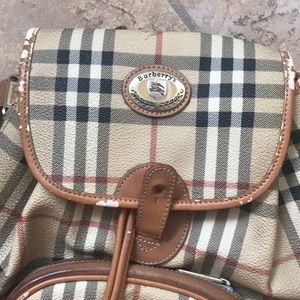 Burberry Bags - 1day sale Auth Super Vintage Burberry Backpack❣️